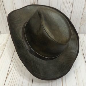 ♻️ Vintage Outback Distressed Genuine Leather Hat